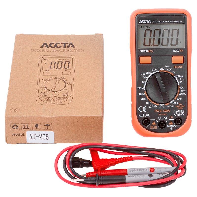 Цифровий мультиметр Accta AT-205 Зображення 3