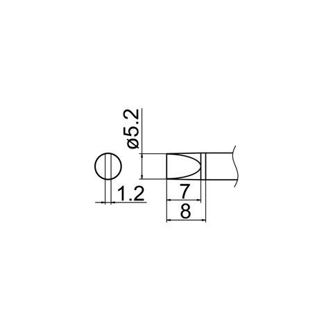 Паяльне жало HAKKO T12-D52 Прев'ю 4