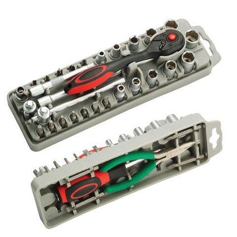 Набор насадок Pro'sKit SD-2308M с трещоткой и длинногубцами Превью 2